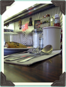 Diner counter top with scone